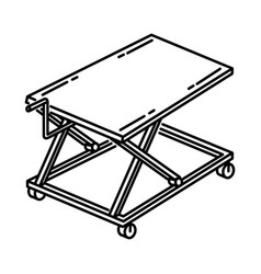 scissor carts icon doodle hand drawn or outline vector image