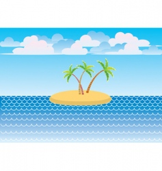sea island vector image