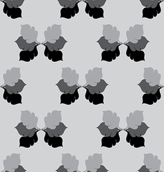 Seamless Floral GrayScale Pattern with Oak Leaves vector image