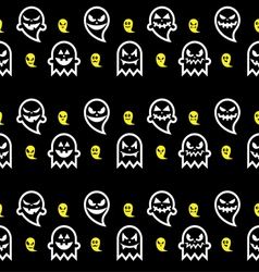 Seamless Halloween ghost pattern vector
