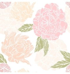 Seamless pattern with blossom and flower bud of vector image