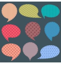 set of textile speech bubbles vector image
