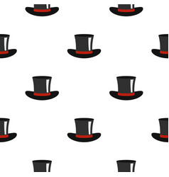 Silk hat pattern flat vector