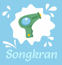 songkran festival background flat style vector image