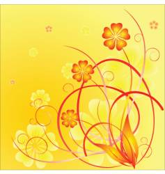 springtime flowers vector image
