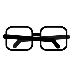 square frame glasses icon vector image
