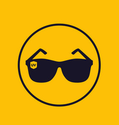 sunglasses uv protection icon vector image
