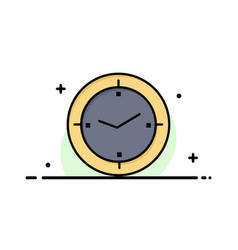 Time timer compass machine business flat line vector