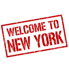 Welcome to new york stamp vector