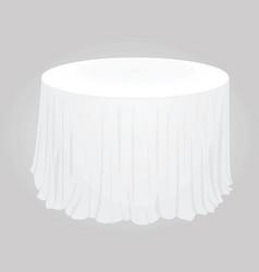 white circle tablecloth vector image