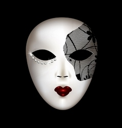 White mask with black mesh vector