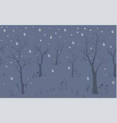 Winter snowy pattern falling snow vector
