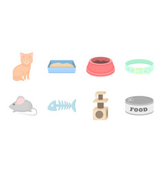 an animal cat icons in set collection for design vector image