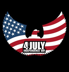 Independence Day America Symbol of ountrys eagle vector image vector image