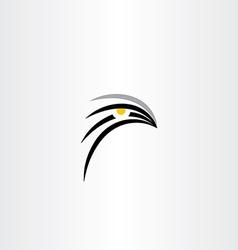Bird hawk icon symbol vector