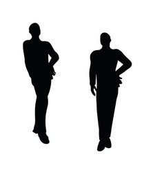 businessman boy silhouette in standing pose vector image vector image