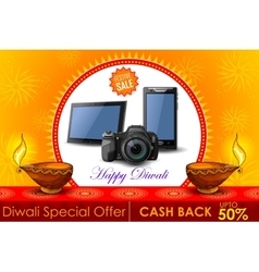 Festive Shopping Offer for Diwali holiday vector image