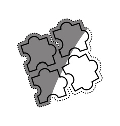 Puzzle game pieces vector image