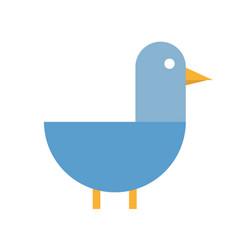 duck flat icon cartoon vector image