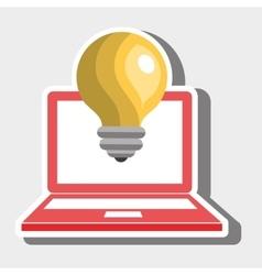 Laptop idea innovation creative vector