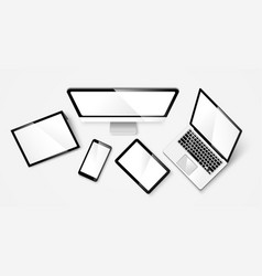 Modern device isolated vector image vector image
