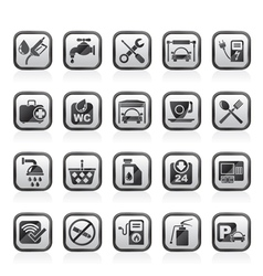 petrol station icons vector image vector image
