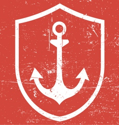 Retro vintage anchor vector
