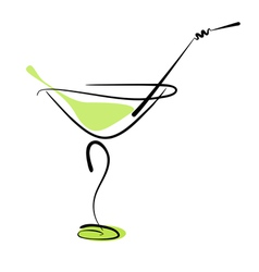 Cocktail martini vector image vector image