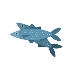 flat style of fish vector image vector image