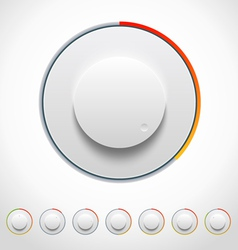 Lights Knobs Set for Web and Mobile vector image vector image