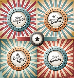 Retro and vintage backgrounds vector image vector image