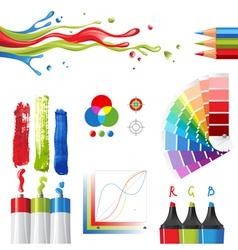 rgb color mode design elements vector image vector image