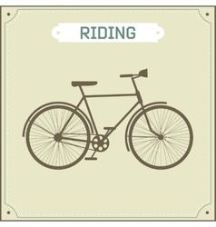 Vintage bike retro vector image vector image