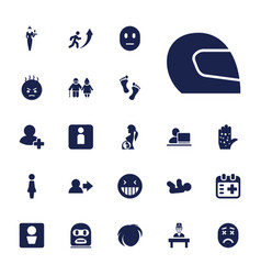 22 person icons vector