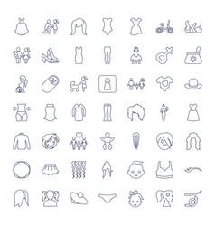 49 girl icons vector