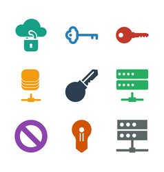 9 access icons vector