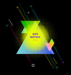 abstract colorful geometric triangles composition vector image