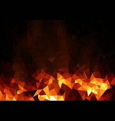 abstract fiery polygonal background vector image