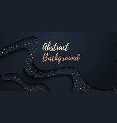 Abstract wavy background dark festive vector