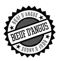 Angus beef stamp in french vector