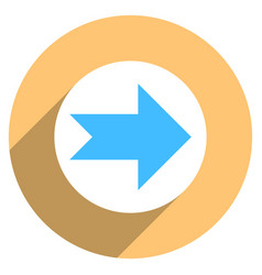arrow sign circle icon vector image