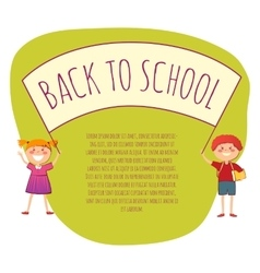 Back to school conept vector image