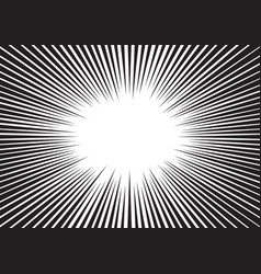Background radial lines for comic books vector
