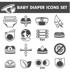 Badiaper icons comfortable underwear vector