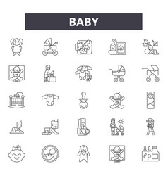 baline icons signs set outline vector image