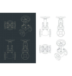 ball valve drawings vector image