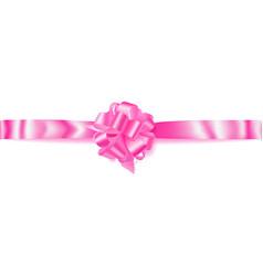 Big horizontal bow made of ribbon vector