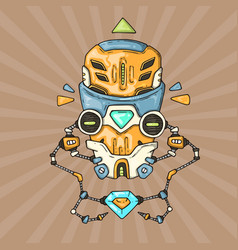 cartoon robot head vector image