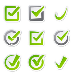 check box icons vote mark sign choice yes vector image