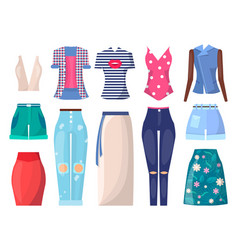 Clothing set and summer mode vector